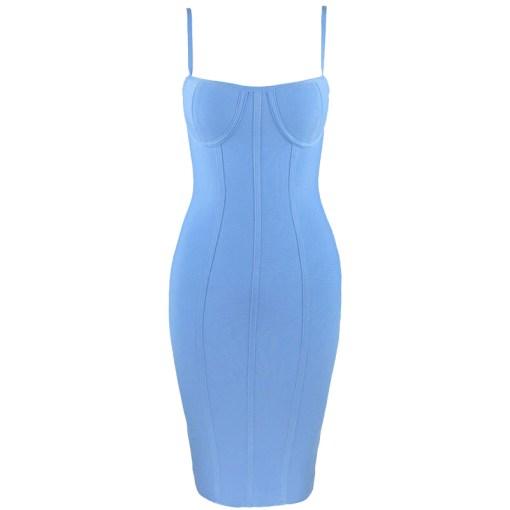 Bandage Kleid blau