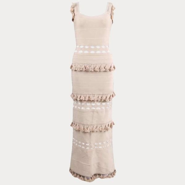 Produktlbild Beiges Kleid Quasten
