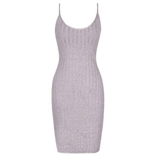 Bodycon Kleid silber