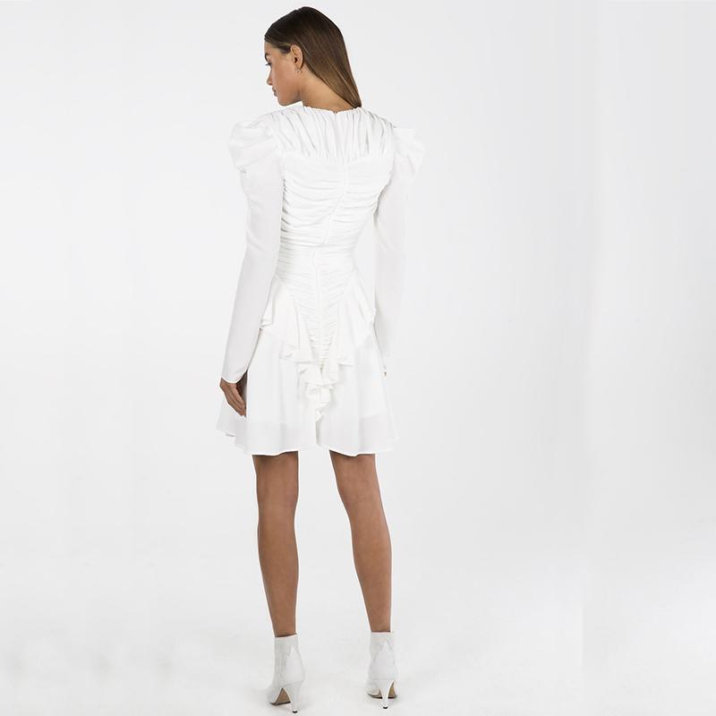 Kleid weiss Chiffon | noomi mode