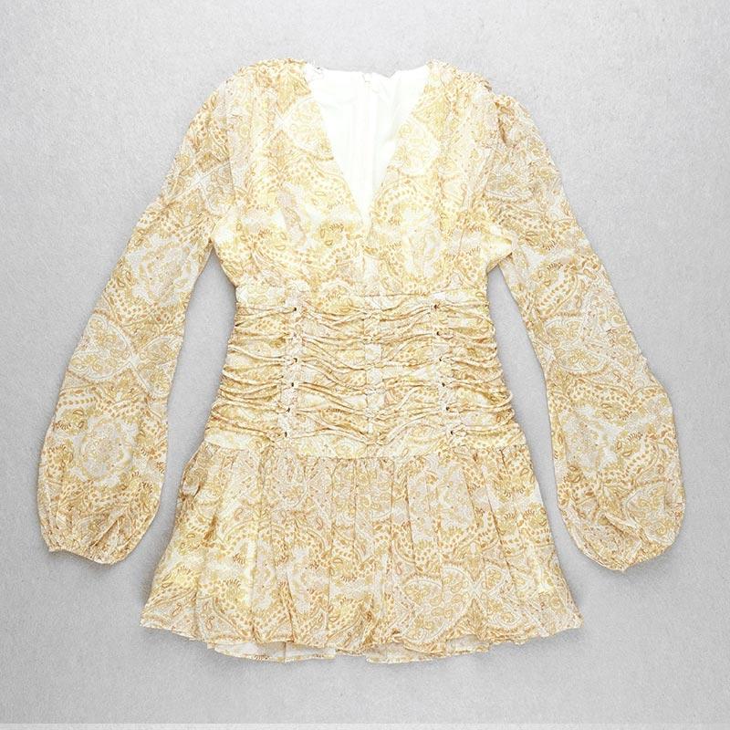 Produktbild Sommerkleid gelb von vorne liegend