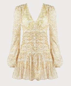 Produktbild Sommerkleid gelb von vorne