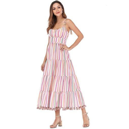Modelbild Sommerkleid gestreift