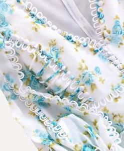 Detailaufnahme Produktbild Sommerkleid Blumen