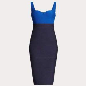 Produktbild Kleid blau Colorblock