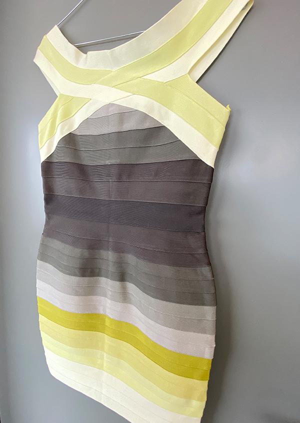 Produktfoto Bandage Kleid gelb ombré M