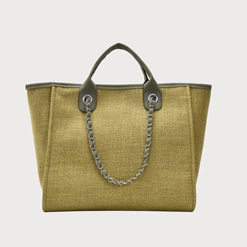 Produktfoto von vorne Tasche Canvas grün