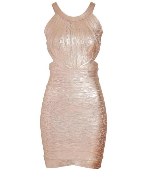 Bandage Bodycon Kleid metallic