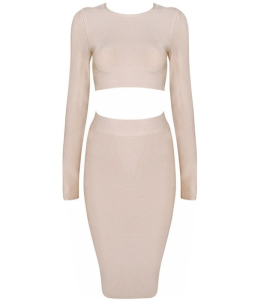Bandage Bodycon Set nude