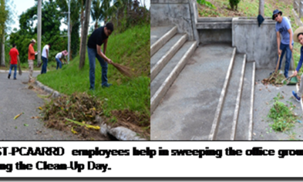DOST-PCAARRD Clean-Up Day