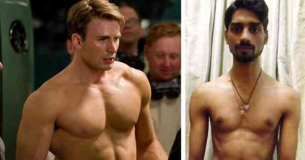 Skinny Boy Gets Inspired By The Superhero Captain America And Transforms His Body