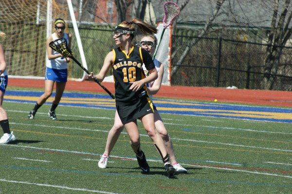 Adrian's Olivia Duncan recorded a game-best nine points (six goals, three assists) as the Bulldogs defeated Worcester State on Saturday! (Photo Credit: Matt Noonan for NoontimeSports.com)
