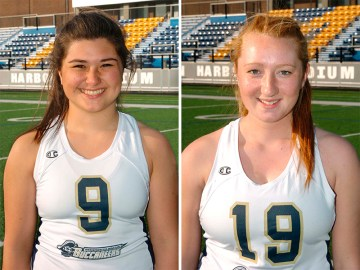 MMA Head Coach Leslie Bullis has announced that sophomores Janine Prokscha and Molly Smith will serve as co-captains for the third Buccaneer varsity campaign. (Photo Credit: Mass. Maritime Academy Athletics)