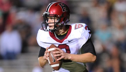 Harvard University senior Scott Hosch will commence the season under center for the Crimson. (Photo Credit: AmericanSportsnet.com)