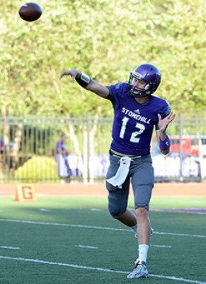 Sophomore Matt Foltz guided Stonehill College to an improbable come-from-behind victory last weekend against LIU Post. (Photo Credit: Stonehill College Athletics)
