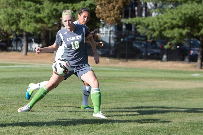 Lesley University women's soccer has not dropped a single New England Collegiate Conference (NECC) match since October 2008. (Photo Credit: Lesley University Athletics)