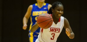 WPI sophomore Ama Biney currently leads the Engineers with 69 points, including nine trifectas. (Photo Credit: WPI Athletics)