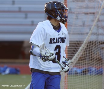 Calvin Lee and the UMass Boston men's lacrosse team have won three overtime contests this season. (Photo Credit: UMass Boston)