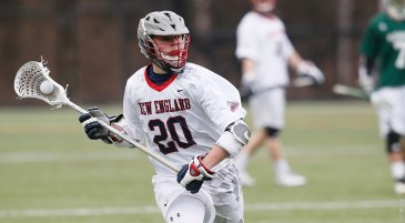 Jarred Sausville and the New England College men's lacrosse team begin NCAA Tournament play on Wednesday against St. Lawrence. (Photo Credit: New England College Athletics)