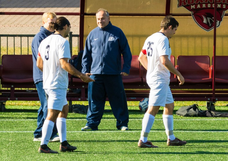 Brandeis men's soccer coach Mike Coven announced his retirement on Friday, December 9th following 44 years on the sidelines with the Judges. (PHOTO CREDIT: Courtesy Mark Vieira)