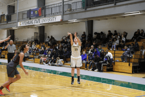 Following another impressive week, Emma Thomson of Fitchburg State was tabbed this week' WACBA Rookie of the Week. (PHOTO CREDIT: Fitchburg State)