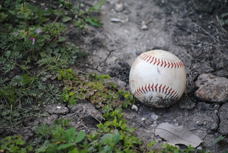 baseball-fallen-accessory-ball-collage-equipment