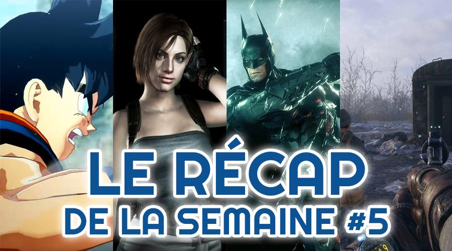 Le récap de la semaine #5 : Dragon Ball Project Z, Resident Evil, Batman Arkham, Metro Exodus