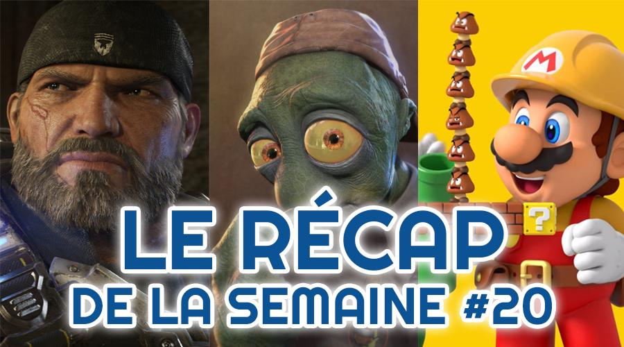 Le récap de la semaine #20 : Gears 5, Oddworld Soulstorm, Super Mario Maker 2