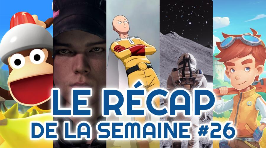 Le récap de la semaine #26 : Ape Escape, Star Wars, One Punch Man, Deliver Us The Moon, iD@Xbox Game Pass