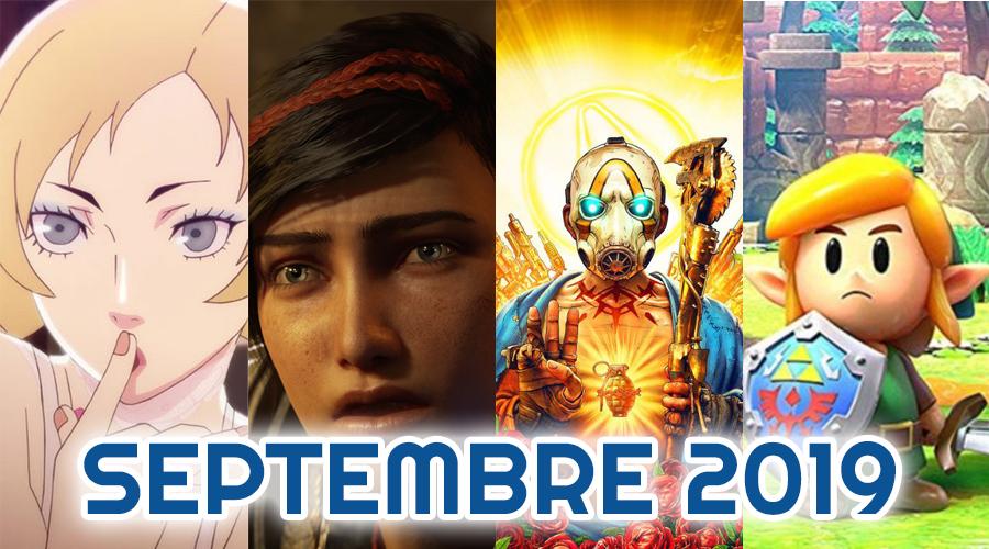 Le calendrier des sorties : Septembre 2019