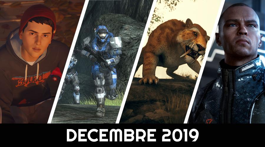 Le calendrier des sorties : Décembre 2019
