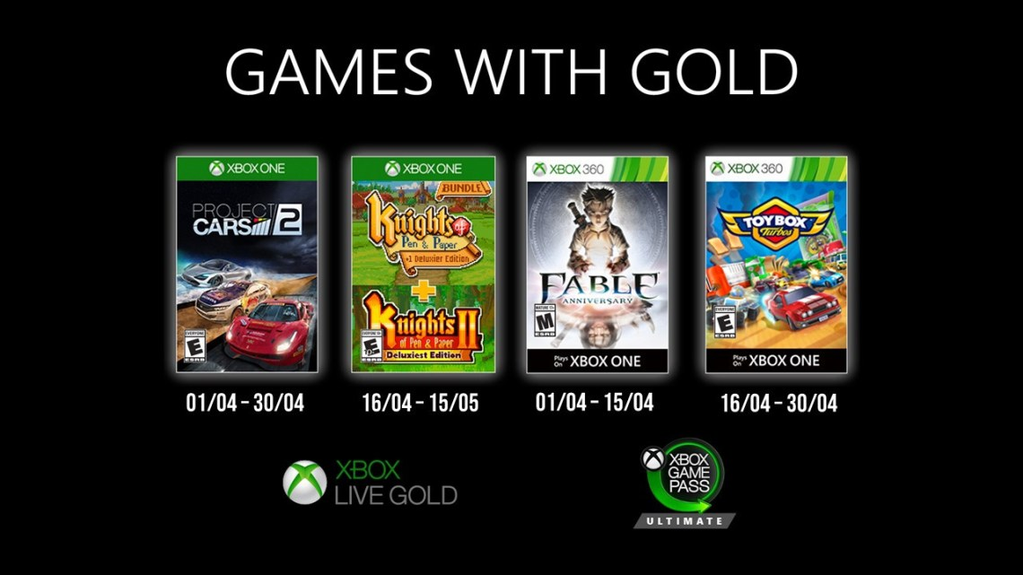 Games With Gold avril 2020