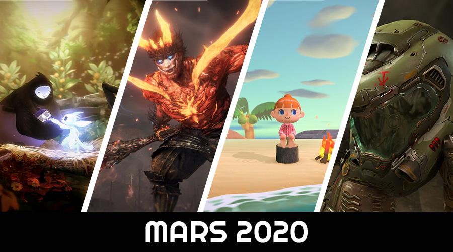Le calendrier des sorties : Mars 2020