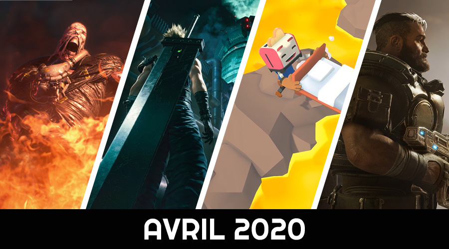 Le calendrier des sorties : Avril 2020