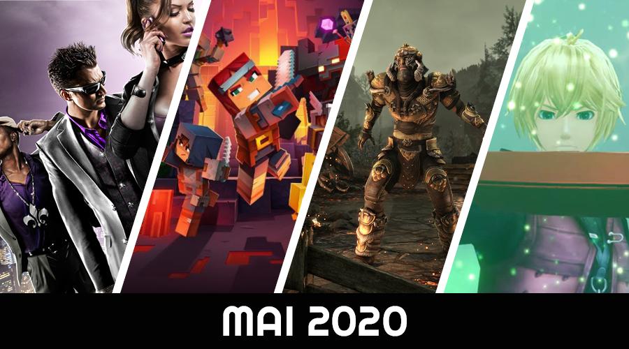 Le calendrier des sorties : Mai 2020