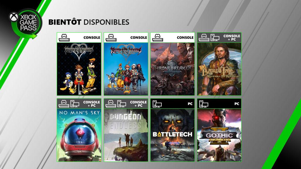 Xbox Game Pass Juin 2020
