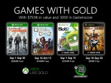 Xbox Games With Gold Septembre 2020