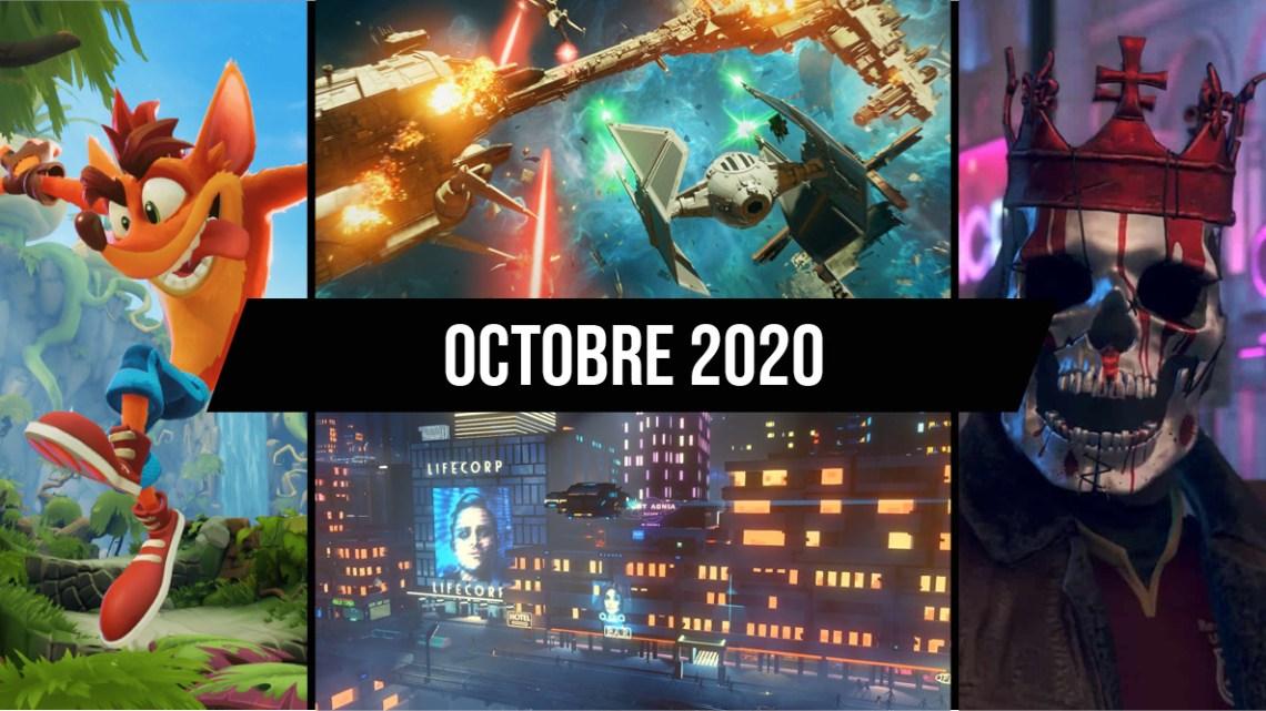 Le calendrier des sorties : Octobre 2020