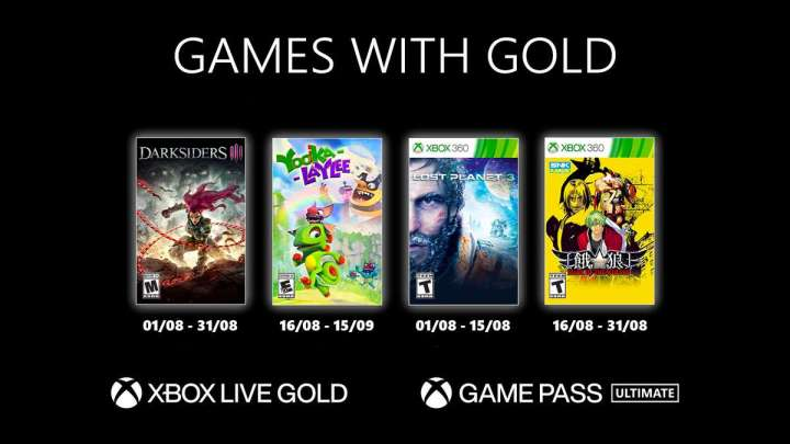 Xbox Games With Gold août 2021