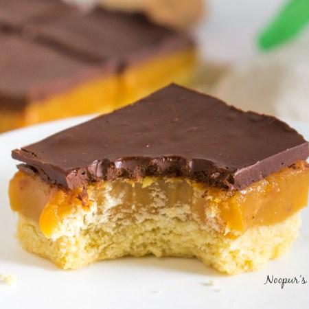 caramel chocolate millionaire squares