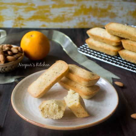 French Financiers with orange