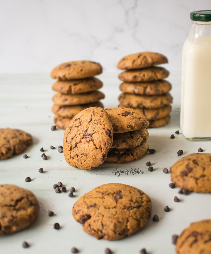 whole wheat flour vegan chocolate chip cookies
