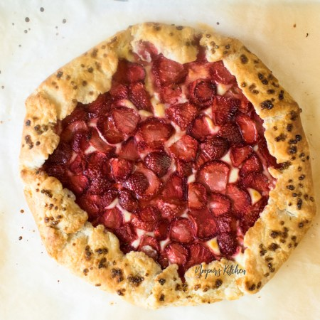 strawberry cheesecake galette
