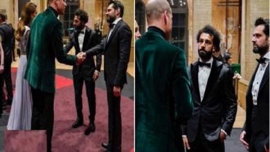 لقاء محمد صلاح مع الأمير ويليام وزوجته في حفل جائزة إيرث شوت