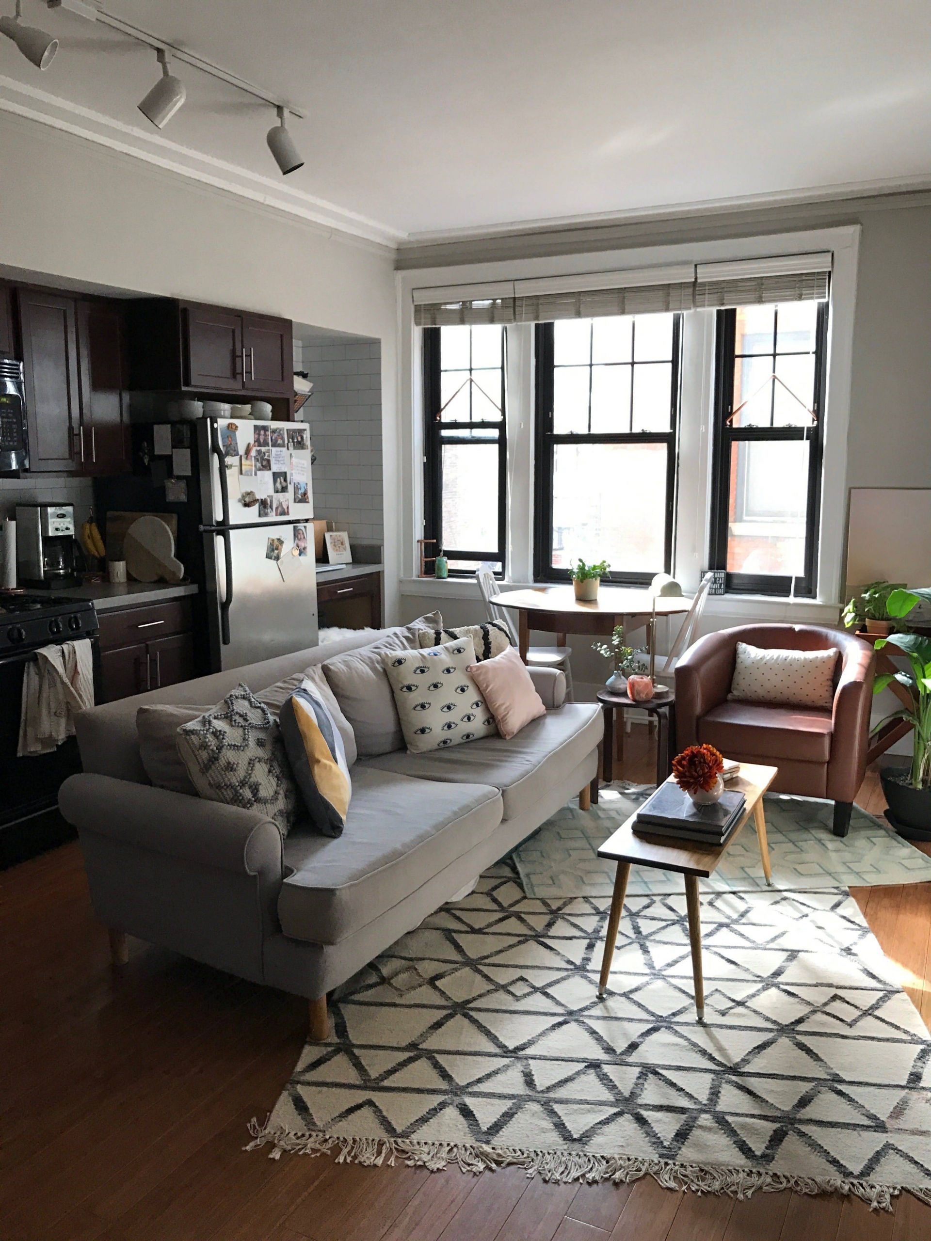 Apartment Design Ideas Awesome A Smart Layout Makes This Studio Feel Big and Bright