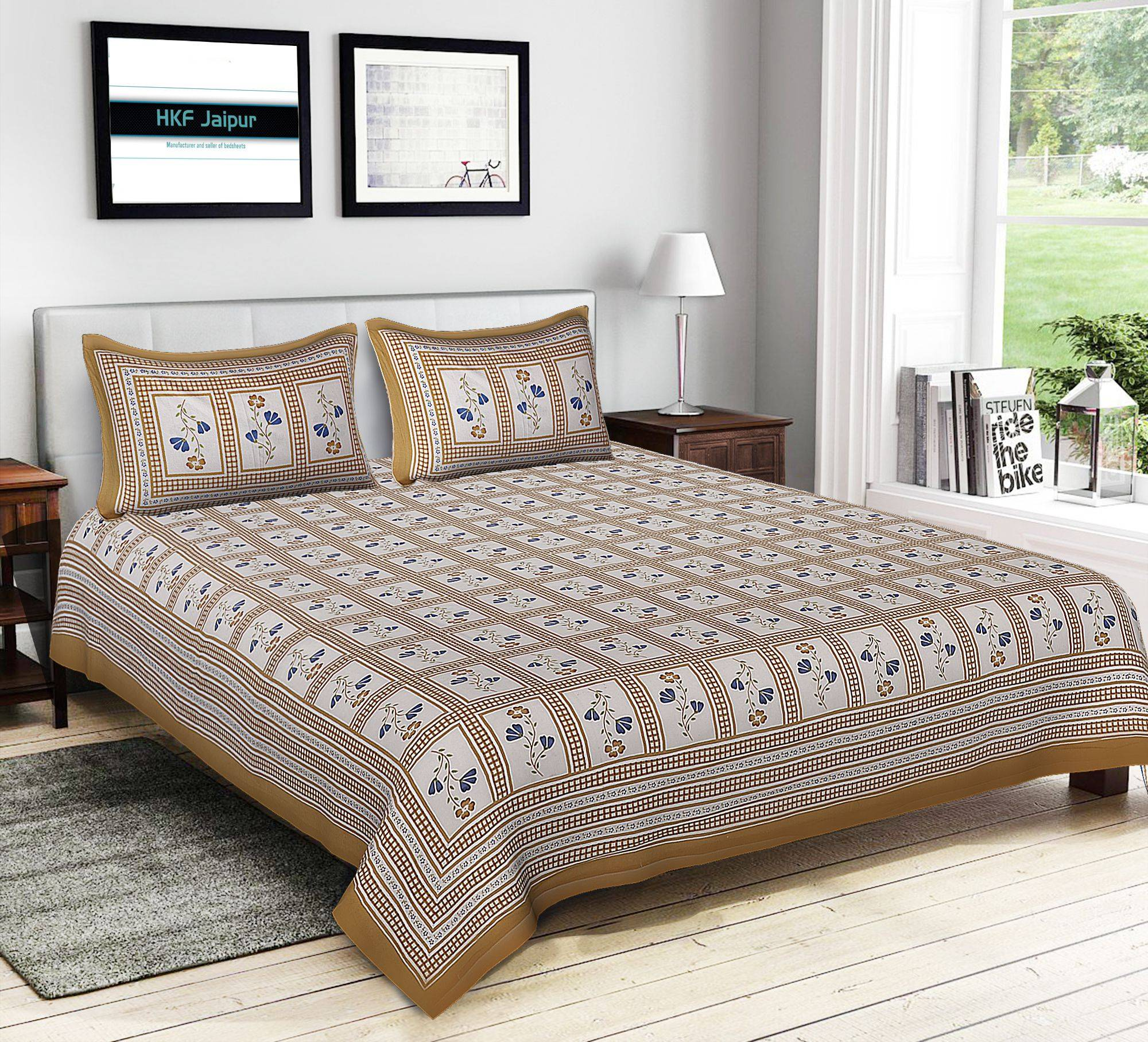hkf Cotton King Size Bed SDL 1 053a8