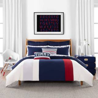 Bed Sheets Lovely tommy Hilfiger Clash Of 85 Stripe Duvet Cover Set Full Queen Multi