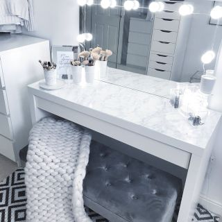 Bedroom Vanity Luxury Grey Dressing Room Make Up Room Goals