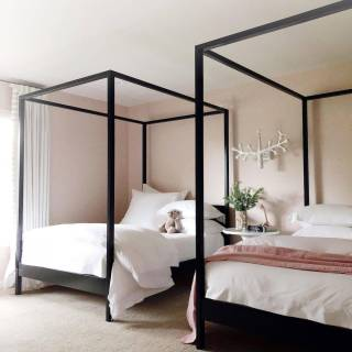 Canopy Beds Luxury Cabana Canopy Bed No Footboard In 2020