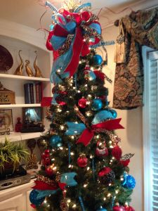 Christmas Decor Ideas Inspirational Christmas Tree Red and Turquoise